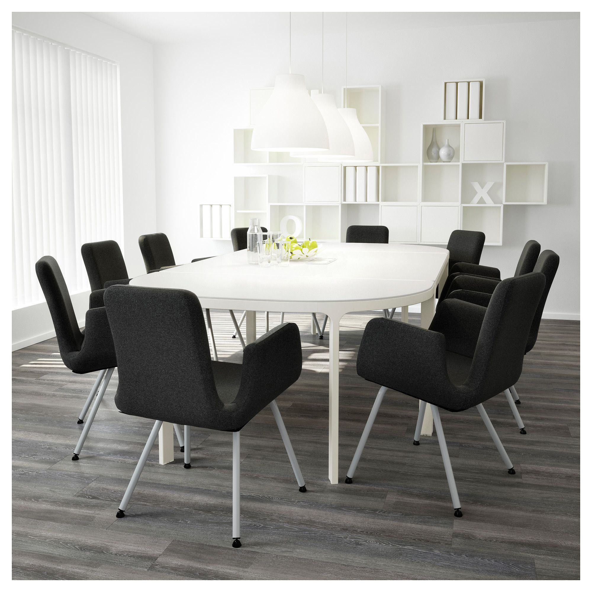 """BEKANT Conference table white 110 1/4x55 1/8 """" (280x140"""