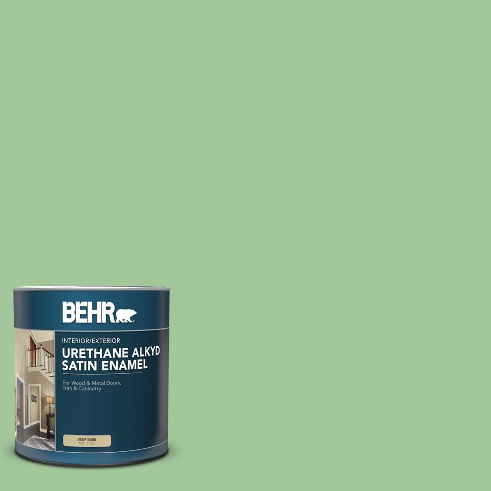 Behr 1 Qt M390 4 Gingko Satin Enamel Urethane Alkyd Interior Exterior Paint 793004 Exterior Paint Behr Paint Primer