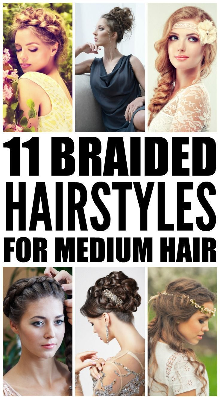 braided hairstyles for mediumlength hair simple ponytails