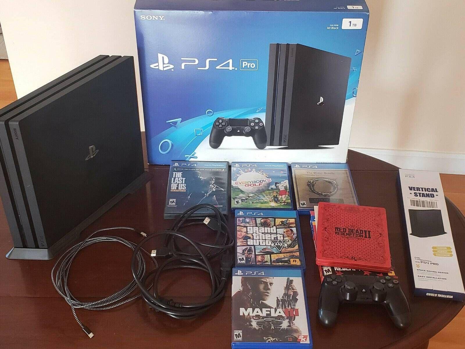 Playstation 4 Ps4 Pro 1tb Black 6 Games Bundle Gta 5 Red Dead 2 Etc In 2020 Game Bundle Playstation 4 Ps4 Pro