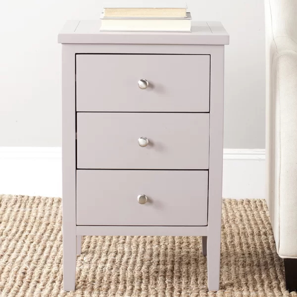 Joanna Solid Wood 3 Drawer End Table End Tables With Storage Bedroom End Tables Furniture