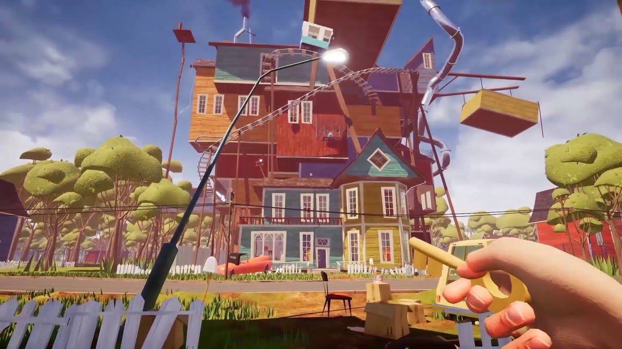 Hello Neighbour Announce Trailer Video Playstation4 Ps4 Sony Videogames Playstation Gamer Games Gami In 2020 Hello Neighbor Game Hello Neighbor Battle Tops