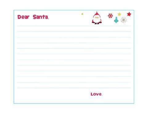 Dear Santa Template Letter  Xmas Ideas    Dear Santa