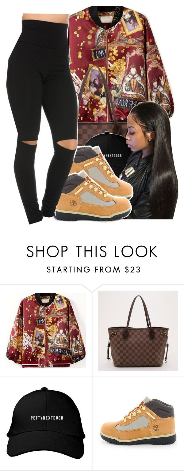 """""""403"""" by xbad-gyalx ❤ liked on Polyvore featuring Louis Vuitton and Timberland"""