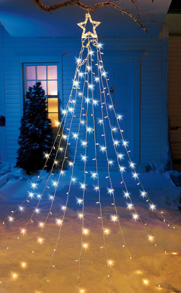 Delight your neighborhood with this huge light display for Creative ways to hang christmas lights indoors