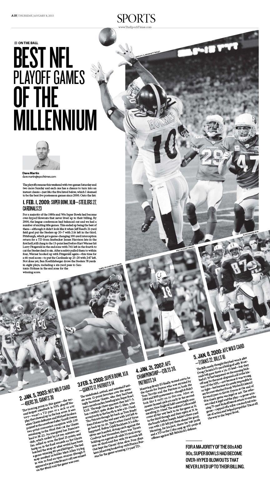 Best NFL Playoff Games of the Millennium|Epoch Times