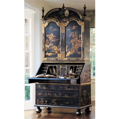 Hand Painted Secretary Desk From Decorative Crafts Gorgeous Chinoiserie I Want This