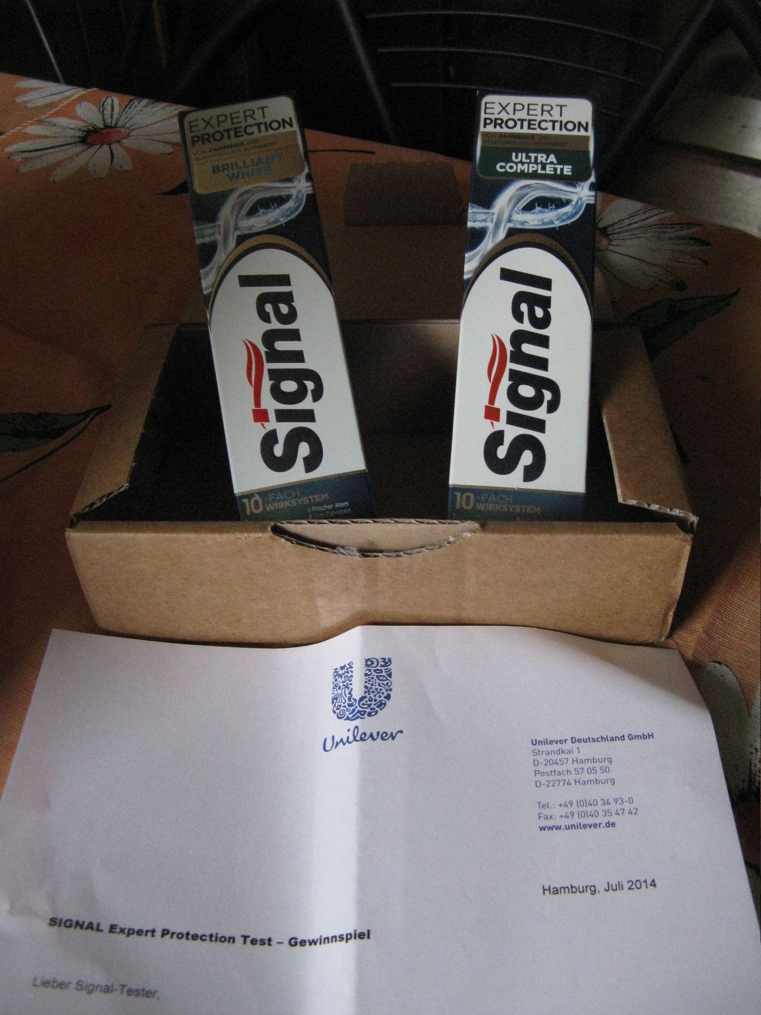 SIGNAL Protection Brilliant White und Ultra Complete im Test. Es ist eine Freude mit Signal Zähne zu putzen.Echt cool!