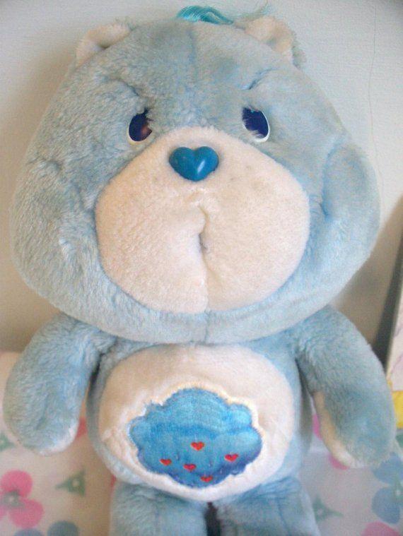 80 S Grumpy Care Bear Plush Toy Via Etsy Care Bears Plush Bear Plush Toy Care Bear