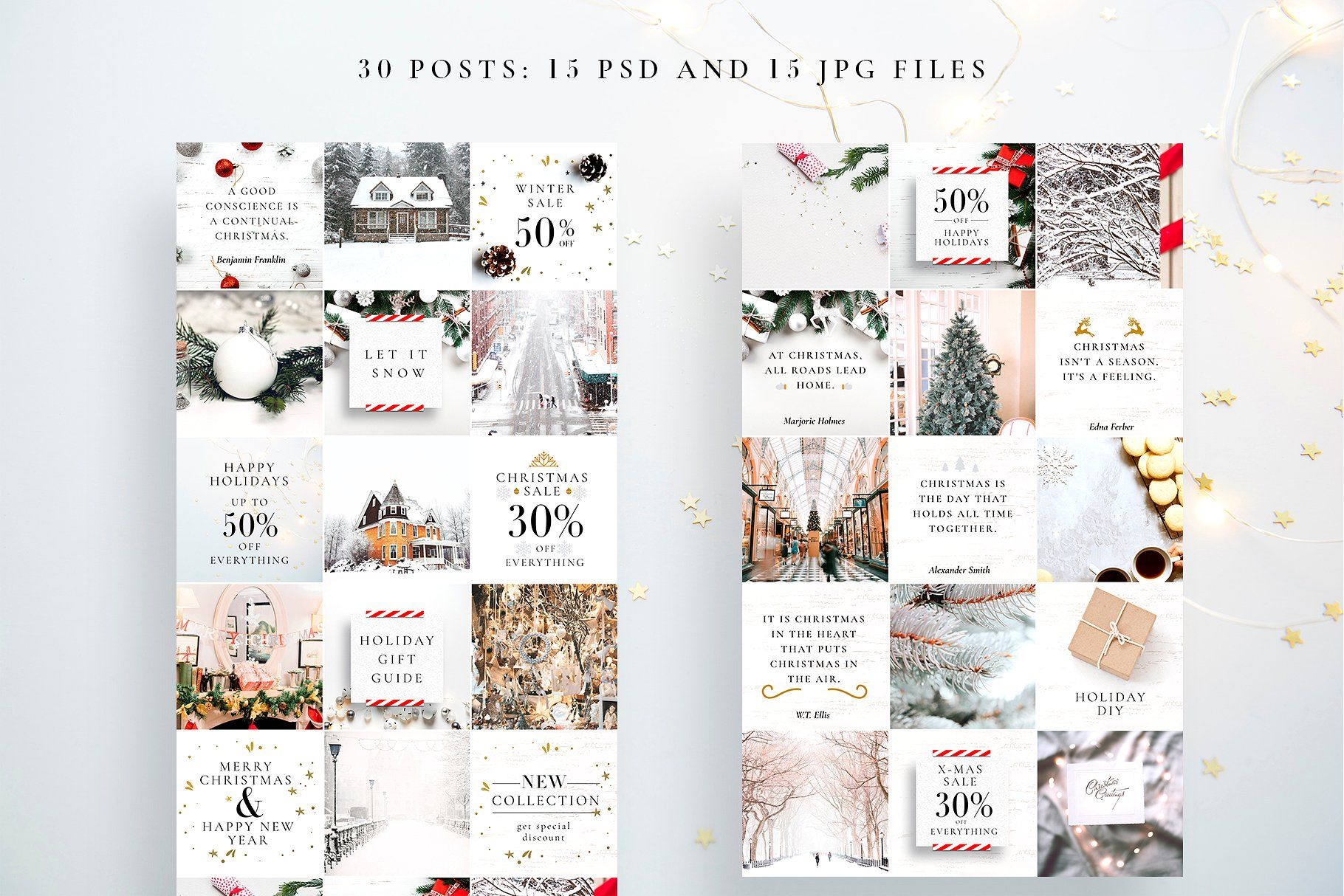 Christmas Instagram Posts Instagram Template Design Instagram