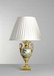 An Outstanding, Early 19th Century, French, Paris Decorated, Table Lamp Of  Neo