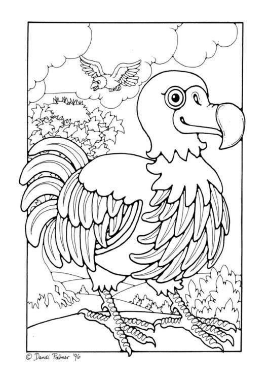 Coloring Page Dodo Img 16245 Bird Coloring Pages Dinosaur