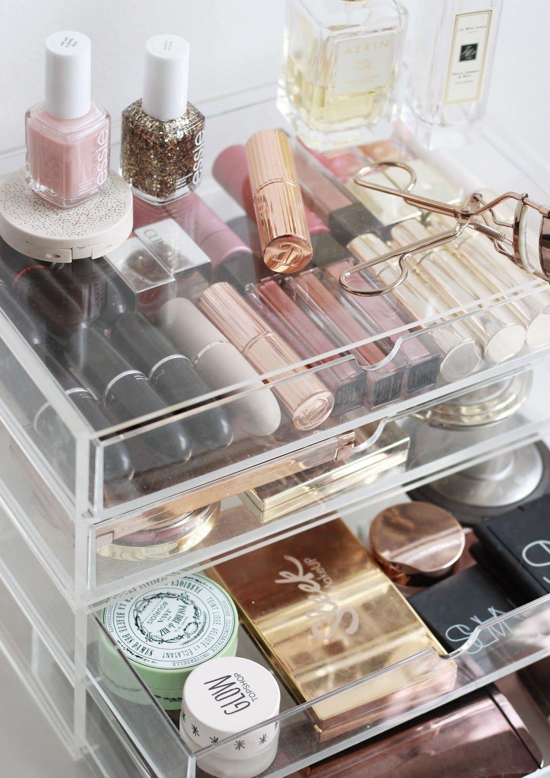 A Muji Makeup Storage Overhaul Muji makeup storage