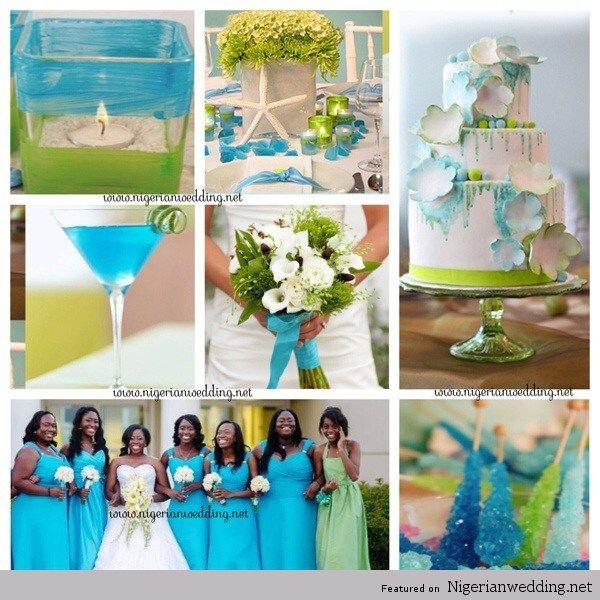 Nigerian Wedding 7 Perfect Turquoise Colour Combination Ideas