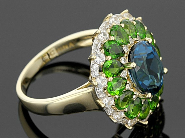 London Blue Topaz 10k Yellow Gold Ring 5 94ctw London Blue Topaz Topaz Gemstone Gold Rings