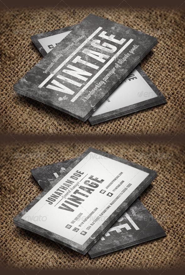 Vintage grunge business cards cartes de visita visita e carto vintage grunge business cards reheart Choice Image