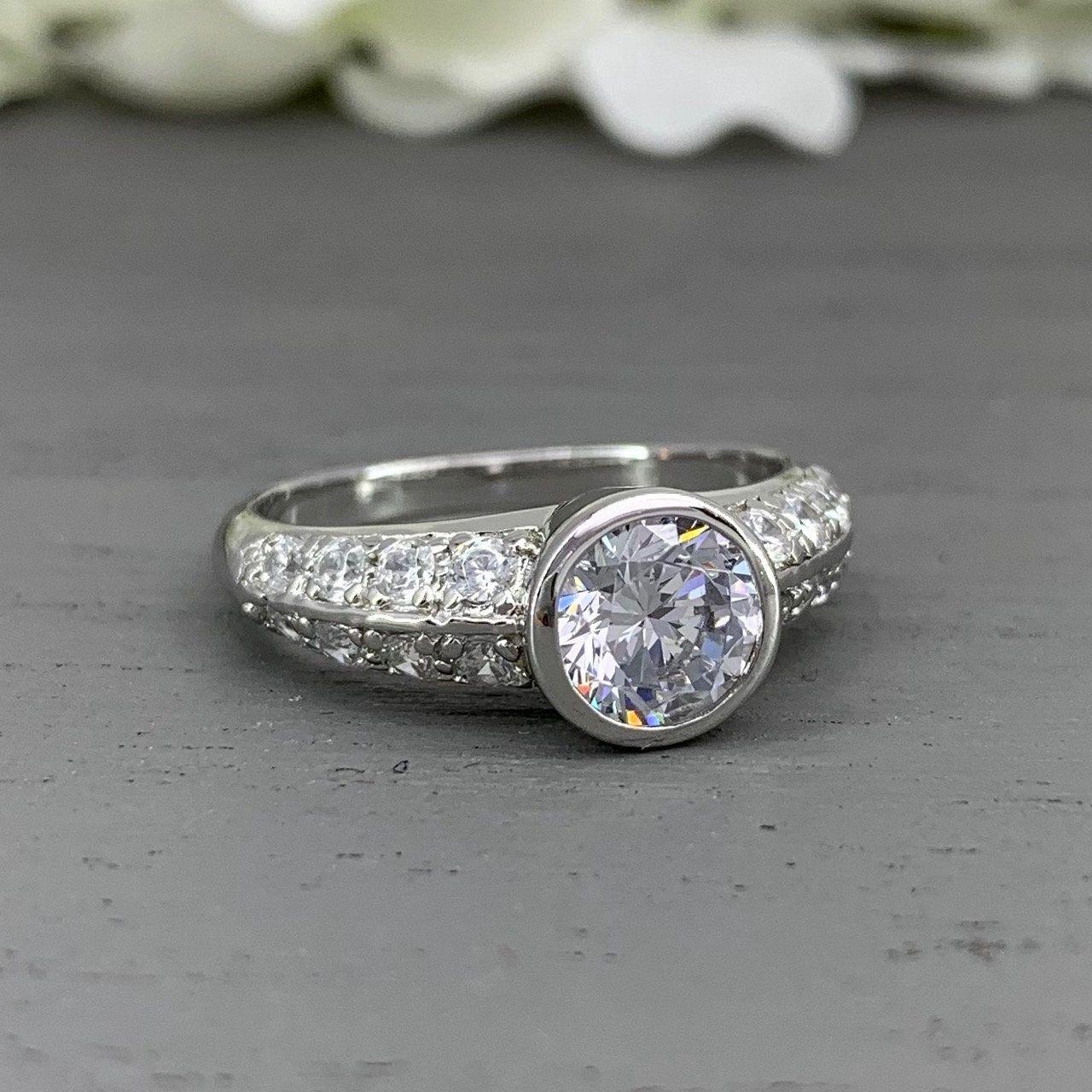 27+ Round diamond wedding band bezel information