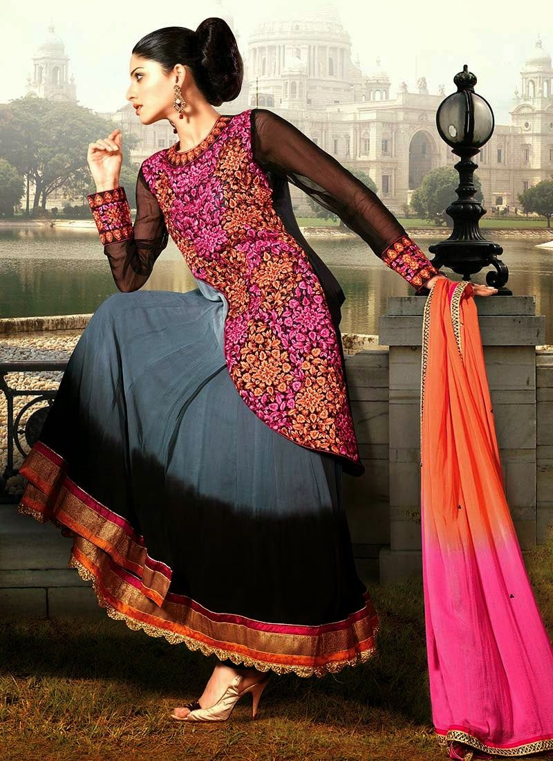 0bbe3bd32868 Latest Stylish and Fancy Indian Umbrella Frock Designs 2014-2015