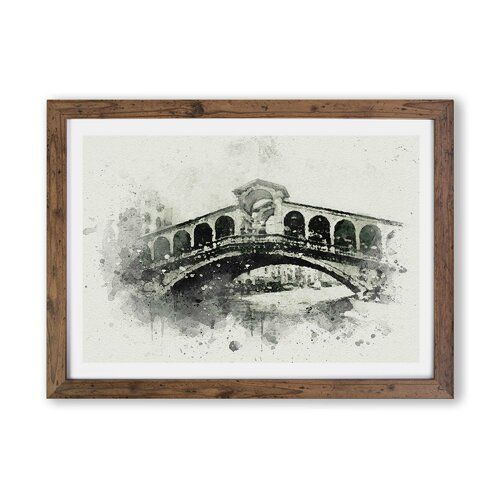 Photo of East Urban Home Rialto Bridge Venice Italy In Abstract | Wayfair.co.uk