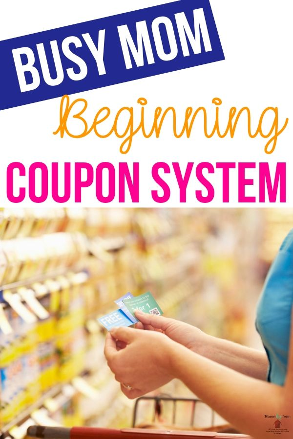 Busy Mom Beginning Couponing System #couponing