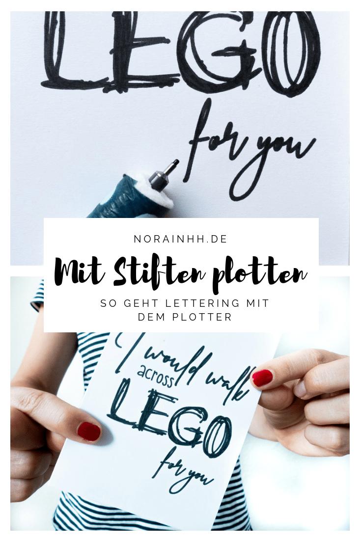 Lettering mit dem Plotter - DIY Postkarten gestalten | norainhh.de #christmascraftstosell