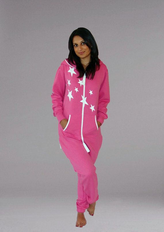 a66d0f13f21e2 Adult Onesie New Pink Jumpsuit One Piece All In One tracksuit hoodie Pyjamas  Lazygrow Jump in