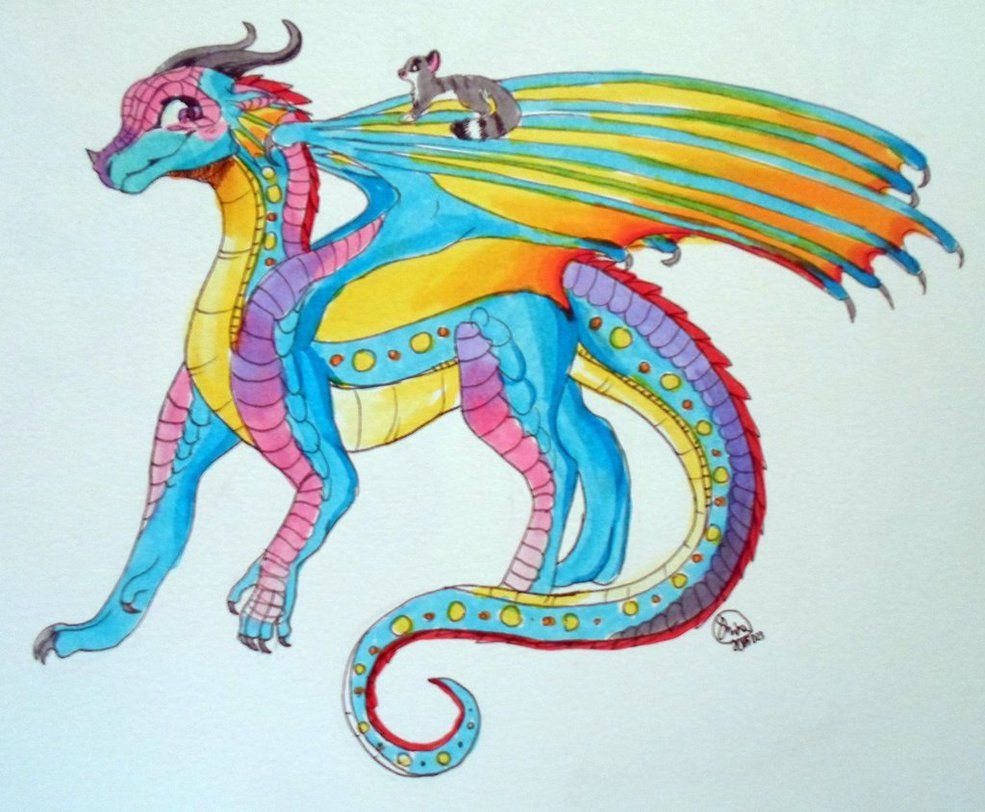 my dragonsona for wings of fire she is a rain/sea wing ...