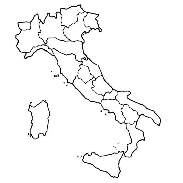 Cartina Italia Con Regioni Da Colorare.Disegno Di Cartina Italia Da Colorare Mappa Dell Italia Geografia Mappa