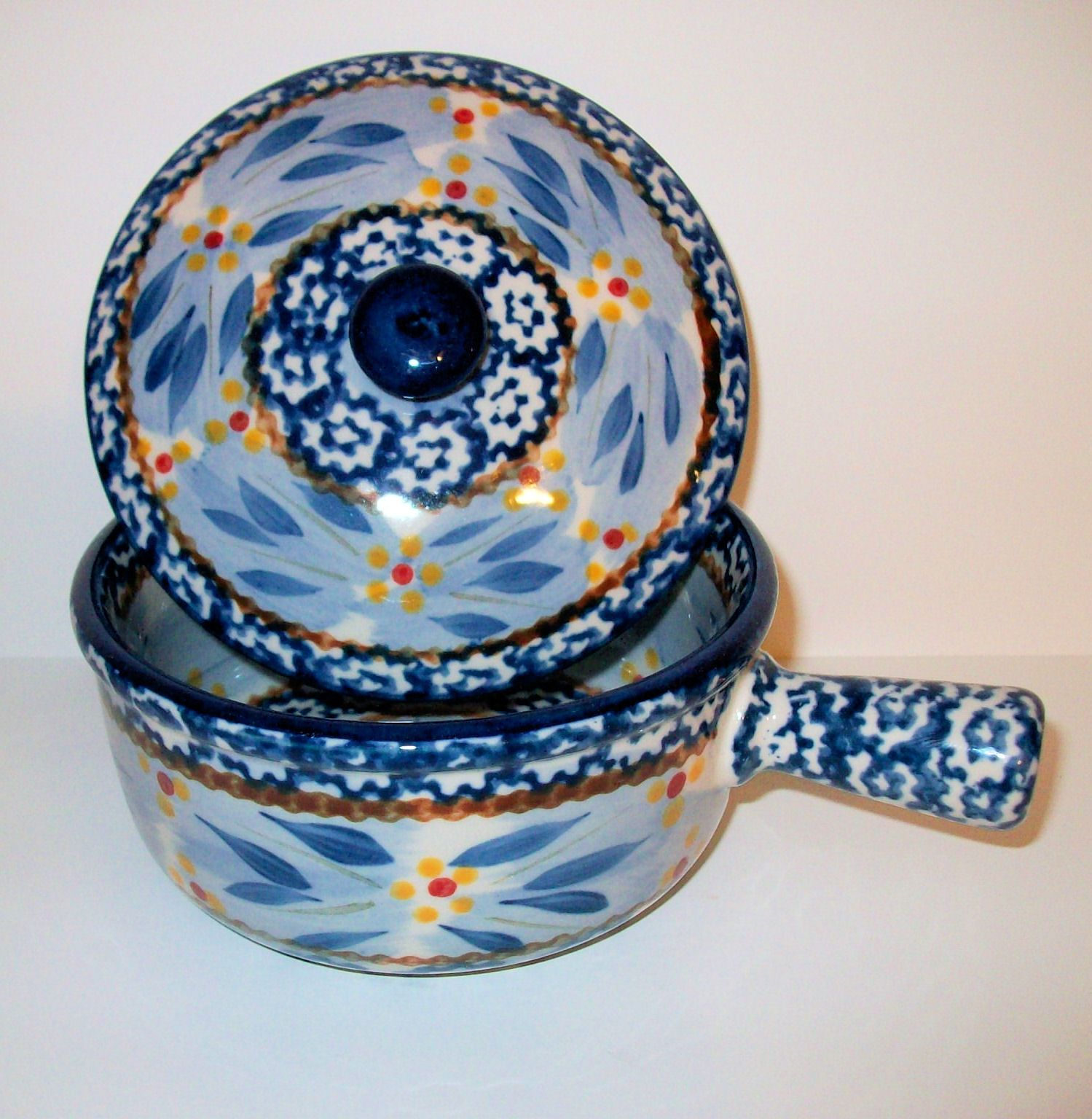 TEMP TATIONS TEMPTATIONS CROCK WITH LID OLD WORLD BLUE NEW SHOP | A ...