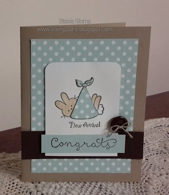 Stampin' & Scrappin' with Stasia: New Arrival - Some SU - Cottage Greetings, stamp set from a local craft store - Baby