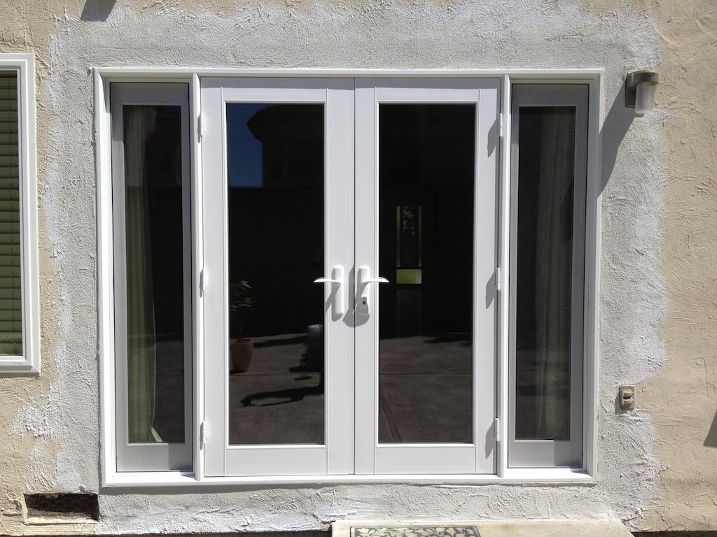Milgard tuscany outswing french door with operating inswing sidelights r m quality windows and doors