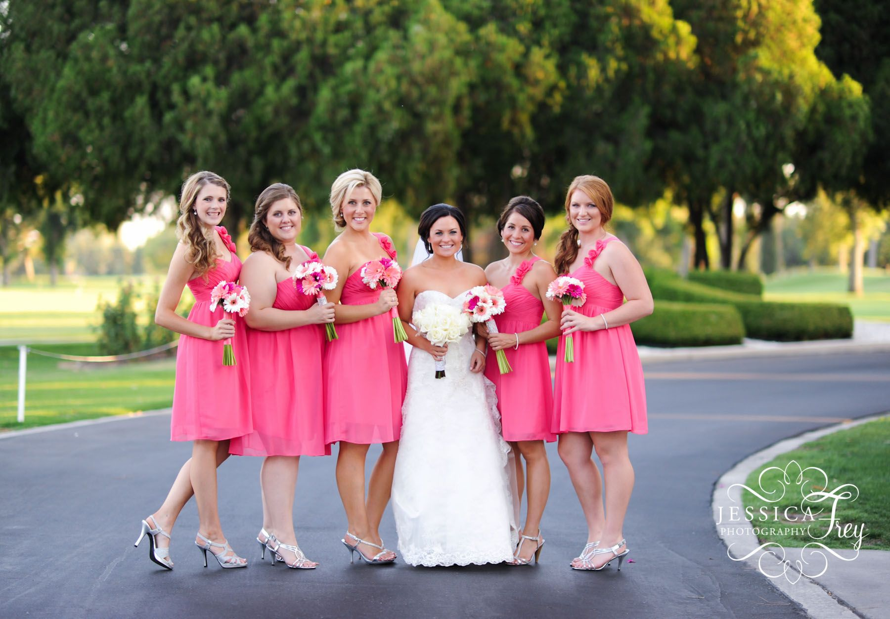 Wedding wednesday bridesmaid dress ideas jessica frey wedding pink is the most popular color for bridesmaid and flower girl dresses if your wedding color is pink then pink bridesmaid dresses will be your best choice ombrellifo Images