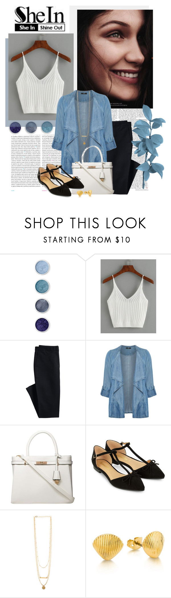 """SheIn Ribbed Knit Crop Cami Top"" by kimi ❤ liked on Polyvore featuring Oris, Terre Mère, Canvas by Lands' End, Evans, Dorothy Perkins and Accessorize"