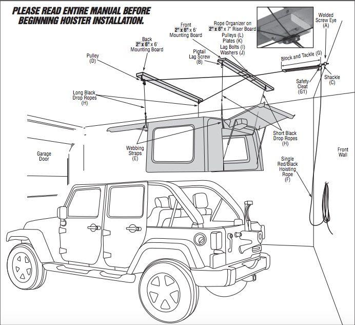Jeep Top Hoist Diy Hardtop Hoist Rennlist Porsche Discussion