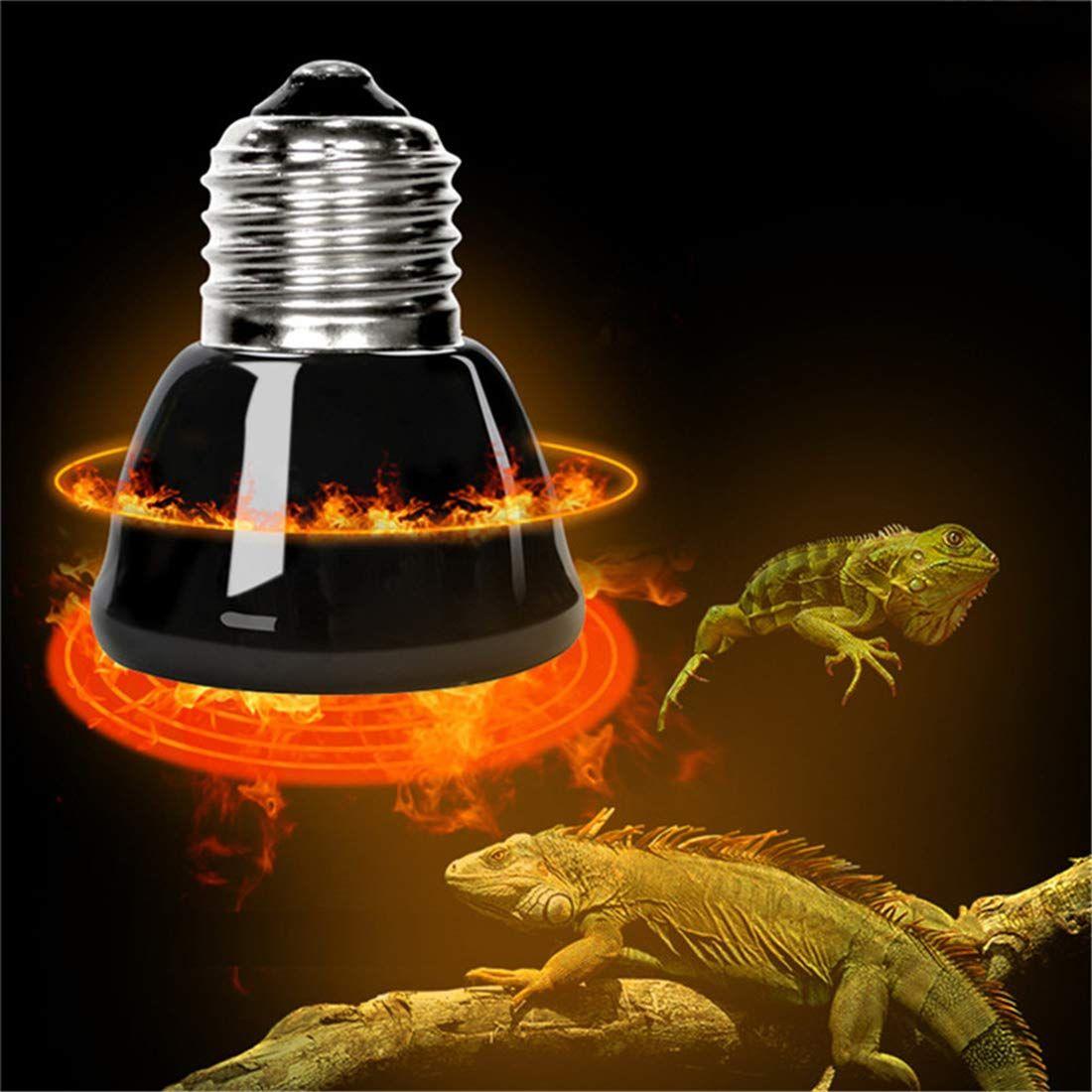 Kangxiaoyan Heating Lamp Black Infrared Ceramic Emitter Heat Light Bulb Pet Brooder Chickens Reptile Lamp 25 50 75 100w Ad Emitter Sponsored Ceramic L