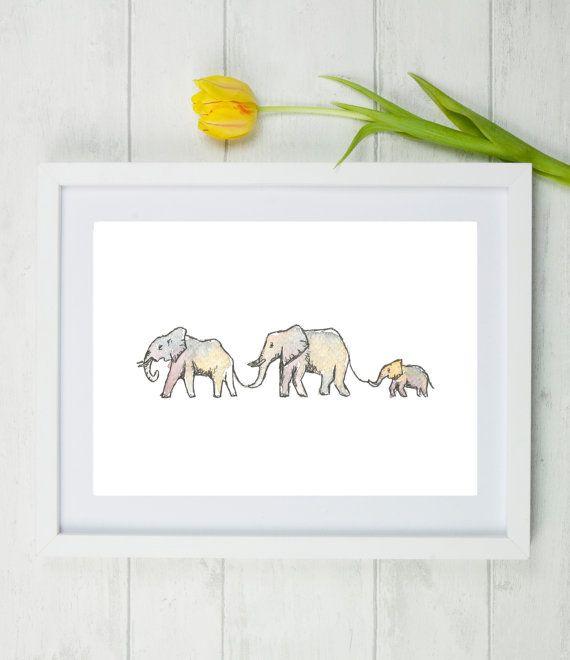Elephants elephant family small family personalised gift elephants elephant family small family personalised gift personalised family gift first negle Gallery