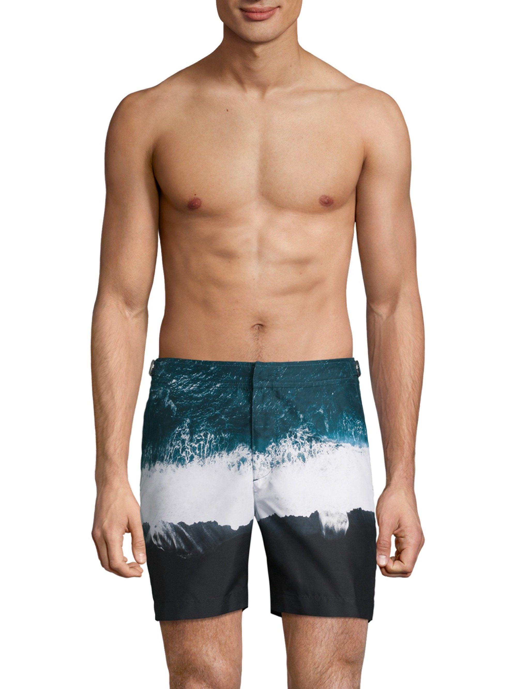 bfe01946e9ecc Orlebar Brown Oceans Print Board Shorts - Edge 32 | Products | Swim ...