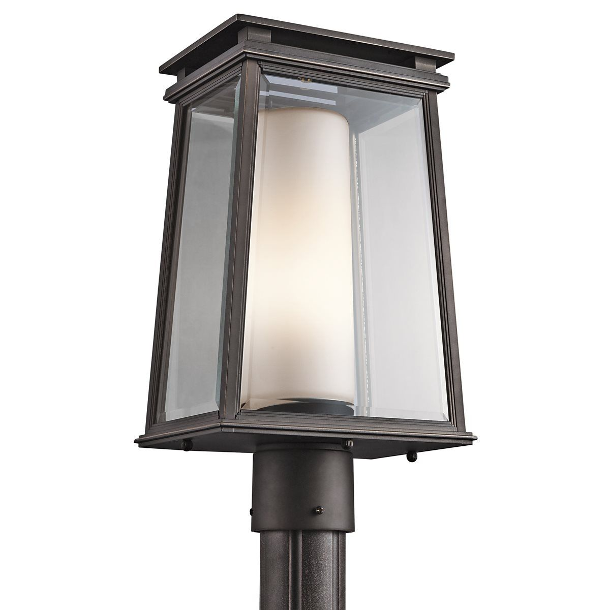 Kichler lighting 49404rz lindstrom modern contemporary outdoor kichler lighting 49404rz lindstrom modern contemporary outdoor post lantern light kch 49404rz arubaitofo Gallery