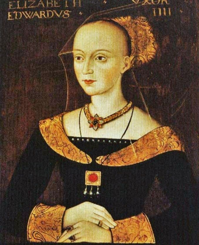 1400s Elizabeth Woodville (c 1437-1492) Unknown artist..... I totally made a copy of this dress without even knowing it!  Now to copy the jewelery...