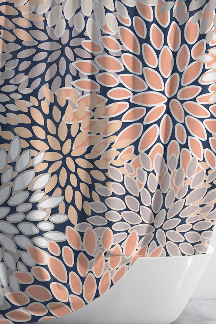 Shower Curtain Ideas Bathroom Modern Coral Shower Curtains