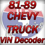 1981 1989 Gmc Chevy Truck Vin Decoder Chevy Trucks Chevy Trucks