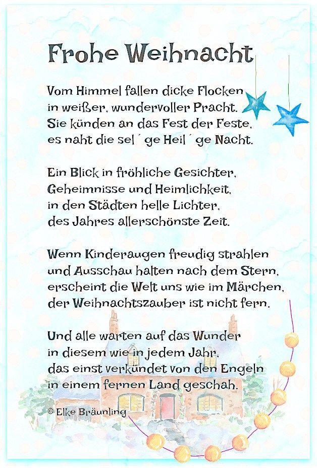 Frohe Weihnacht * Elkes Kindergeschichten #weihnachtskartenspruch
