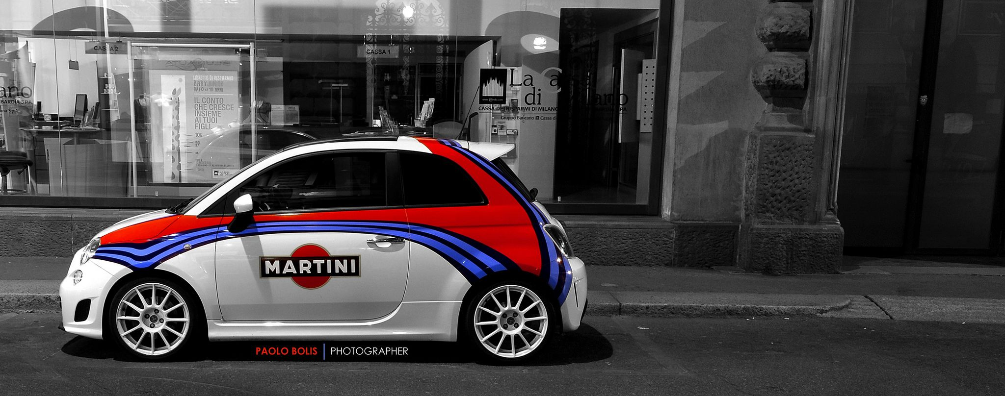 https://flic.kr/p/bCcEcm | Fiat 500 Abarth Martini | Spotted in Milan, Italy