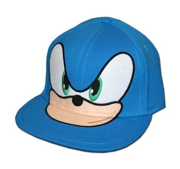 Sonic The Hedgehog Merchandise - Sonic Face Flatbill Flex Fit Hat by  Animation Shops e5151b060660
