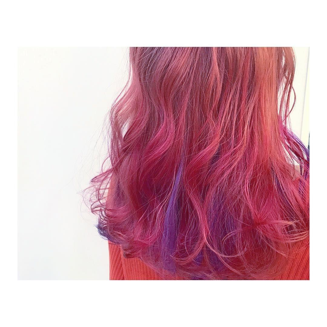 ピンク インナーパープル ピンク パープル アレンジ シークレットハイ
