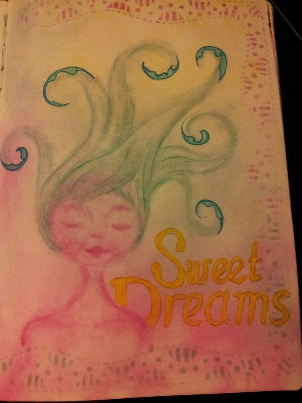 Sweet dreams. My first PanPastel drawing, need to practice some more. Maybe try out other tools as well. Miranda Bosch - Thurlings