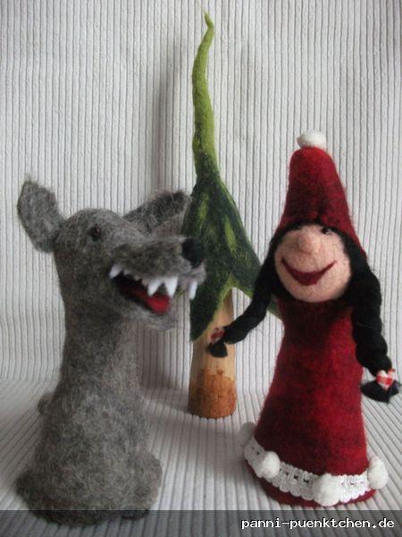 Rotkäppchen und der Wolf  Eierwärmer Set handmade