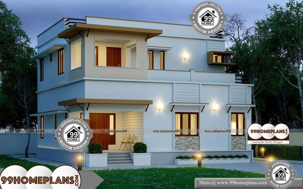 House Plans For Narrow Plots Uk 2 Story 1990 Sqft Home House Plans For Narrow Plots Uk Double Storied Cute 3 Bedroom H House Plans House Cool House Designs