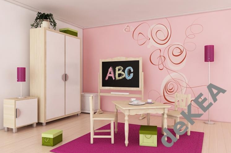 Best Pink Dekea Wallpaper Very Original Pattern Girls Bedroom Modern Kids Room Furniture Barbie 640 x 480