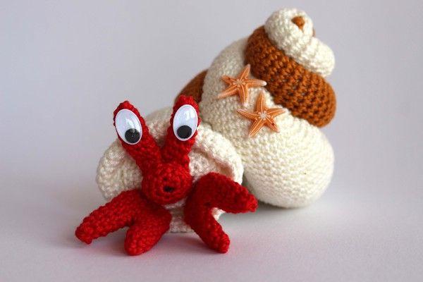 Muschel Mit Krabbe Häkelanleitung Häkeln Pinterest Crochet